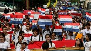 Estudiantes paraguayos movilizados